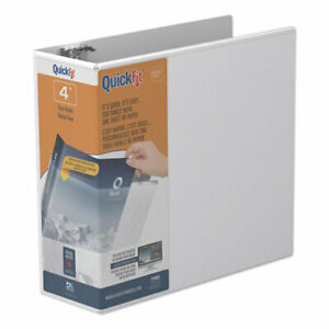 Quickfit D ring View Binder 4 Capacity 8 1 2 X 11 White