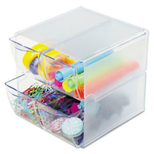 Stackable Cube Organizer 4 Drawers 6 X 7 1 8 X 6 Clear