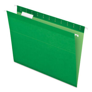 Colored Reinforced Hanging Folders Letter Size 1 5 cut Tab Bright Green