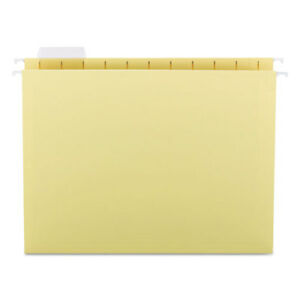 Hanging File Folders 1 5 Tab 11 Point Stock Letter Yellow 25 box