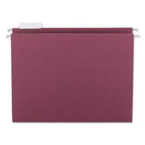 Hanging File Folders 1 5 Tab 11 Point Stock Letter Maroon 25 box
