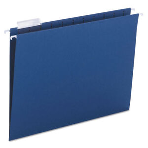 Hanging File Folders 1 5 Tab 11 Point Stock Letter Navy 25 box