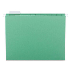 Hanging File Folders 1 5 Tab 11 Point Stock Letter Bright Green 25 box