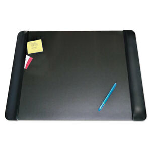 Executive Desk Pad With Leather like Side Panels 24 X 19 Black