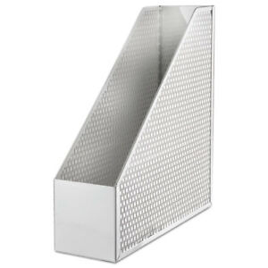 Urban Collection Punched Metal Magazine File 3 1 2 X 10 X 11 1 2 White