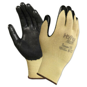 Hyflex Cr Gloves Size 7 Yellow black Kevlar nitrile 24 pack