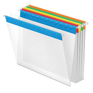 Poly Hanging File Folders 1 5 Tab Letter Assorted Colors 25 box