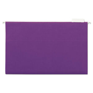 Deluxe Bright Color Hanging File Folders Legal Size 1 5 cut Tab Violet
