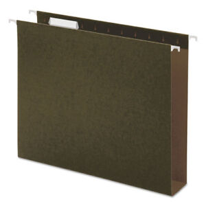 Box Bottom Hanging File Folders Letter Size 1 5 cut Tab Standard Green