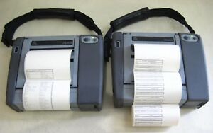 2x Rugged Zebra Pa400 Wireless Portable Barcode Label Printer