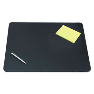 Sagamore Desk Pad W decorative Stitching 24 X 19 Black