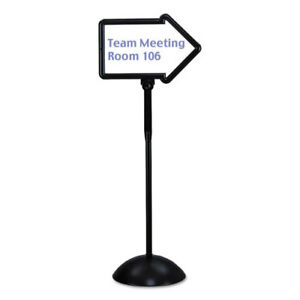 Double sided Arrow Sign Dry Erase Magnetic Steel 25 1 2 X 17 3 4 Black Frame