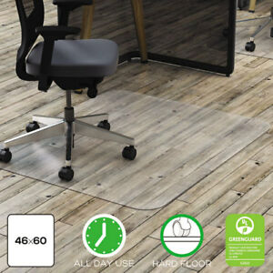Polycarbonate All Day Use Chair Mat Hard Floors 46 X 60 Rectangle Cr