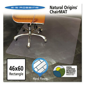Natural Origins Chair Mat For Hard Floors 46 X 60 Clear