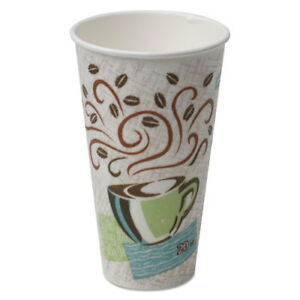 Hot Cups Paper 20oz Coffee Dreams Design 25 pack 20 Packs carton