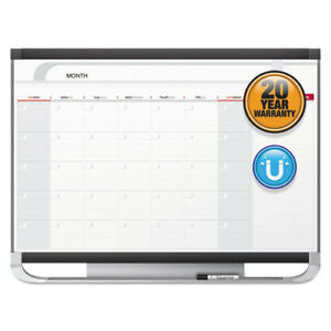 Prestige 2 Magnetic Total Erase Monthly Calendar 48 X 36 Graphite Color Frame