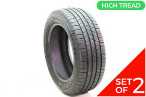 Set Of 2 Used 235 55r17 Michelin Defender T H 99h 9 32