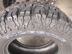 4 New 35x12 50r20 Milestar Mud Tires 35125020 35 12 50 20 M t Mt 3512 5020 R20 F