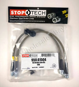 Stainless Steel Braided Rear Brake Lines For 04 13 Mazda3 Mazda 3 Stoptech