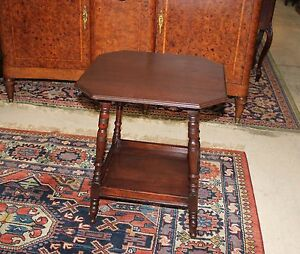 English Antique Mahogany Wood Small Side Table