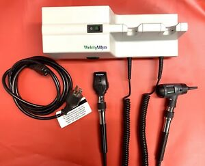Welch Allyn 767 Wall Transformer With Otoscope 23810 And Opthalmoscope 11710