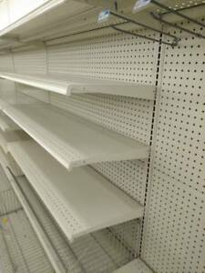 Lozier Gondola Store Shelving 4 Wide Wall Section no Shipping pick Up Only
