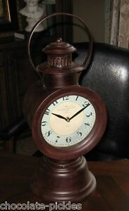 Big Colorado Clock Railroad Train Engineer Lantern Table Desk Mantel Office 20 T