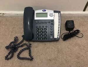 At t 945 4 line Small Business System Office Phone With Ac Adapter