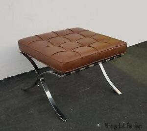 Barcelona Bench Ottoman In The Style Of Ludwig Mies Van Der Rohe For Knoll