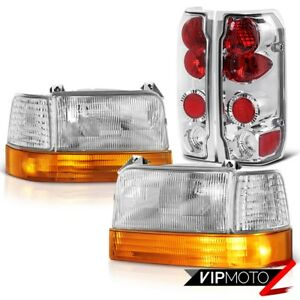 1992 1996 Ford F150 F250 F350 Bronco Amber Parking Signal Headlights Tail Lamps
