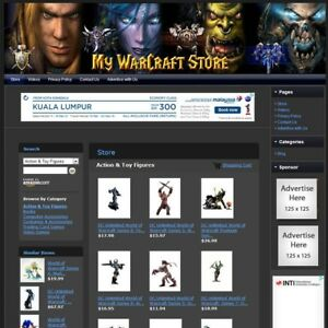 Warcraft Games Store Affiliate Website Business For Sale Free Domain hosting
