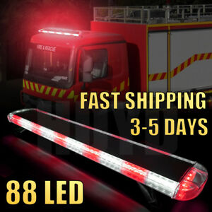 47 88 Led Strobe Light Bar Emergency Beacon Warn Tow Truck Response Red White