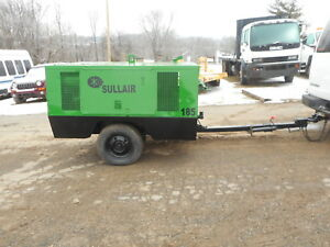 Sullair 185cfm Portable Towable Air Compressor Perkins Diesel