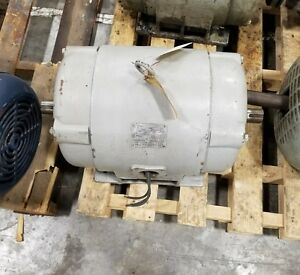 Lima 20 Hp Electric Motor 08 00 3452 Dual Shaft 2421sr