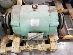 Lima 20 Hp Electric Motor 08 00 3452 Dual Shaft 2420sr