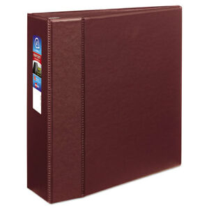 Heavy duty Binder With One Touch Ezd Rings 11 X 8 1 2 4 Capacity Maroon