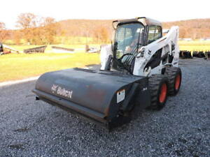 2007 Bobcat 72 Box Broom Sweeper Skid Steer Bucket Attachment Hydrualic Video