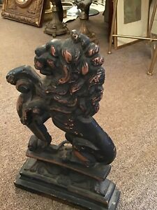 Antique Cast Iron Lion Door Stop