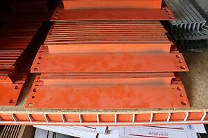 68 Pcs Of Pallet Rack 16 Row Spacers Orange Color In Used Condition