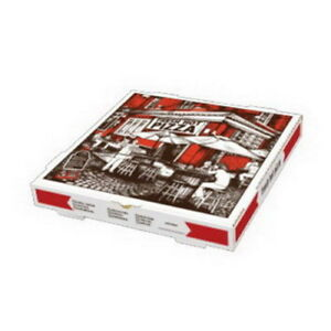 Square Cafe Design B flute Corrugated Pizza Box White 12 L X 12 W 50 bundle