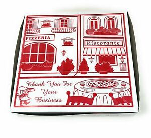 Square Stock Printed Pizza Box 12 L X 12 W X 2 D Clay Coated 100 bundle