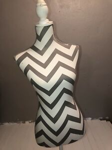 Female Mannequin Torso With Tripod Stand White gray