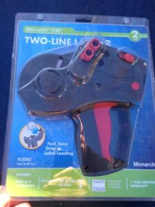 Monarch 1136 Two line Labeler 925082 brand New Factory Sealed 2 Free Rolls