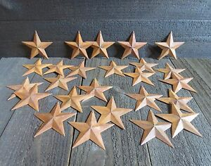 Lot Of 25 Rusty Metal Barn Stars 3 75 Inch 3 3 4 Primitive Country 3 5 Inch 2d