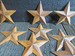 Lot Of 25 Rusty 2d Metal Barn Stars 3 5 In 3 3 4 Primitive Country Rustic 3 75