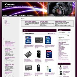 Established Camera Store Online Business Website For Sale Free Domain