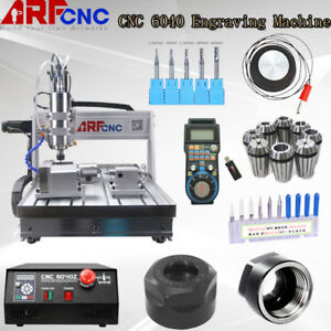 4 Axis 6040 2200w Usb Cnc Router Engraver Engraving Milling Machine 220v Usa