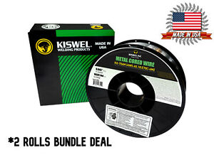 2 Rolls Kiswel E70c 6m 045 In Dia 10lb Metal Cored Welding Wire Made In Usa