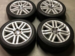 2008 2009 17 Mercedes C300 Factory Oem Rims Michelin All Season Tires