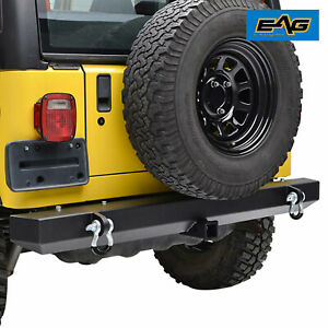 Eag 87 06 Jeep Wrangler Yj Tj Rear Bumper With 2 Hitch Receiver